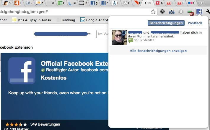 Official Facebook Extension for Google Chrome