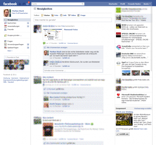 Facebook Beta Version