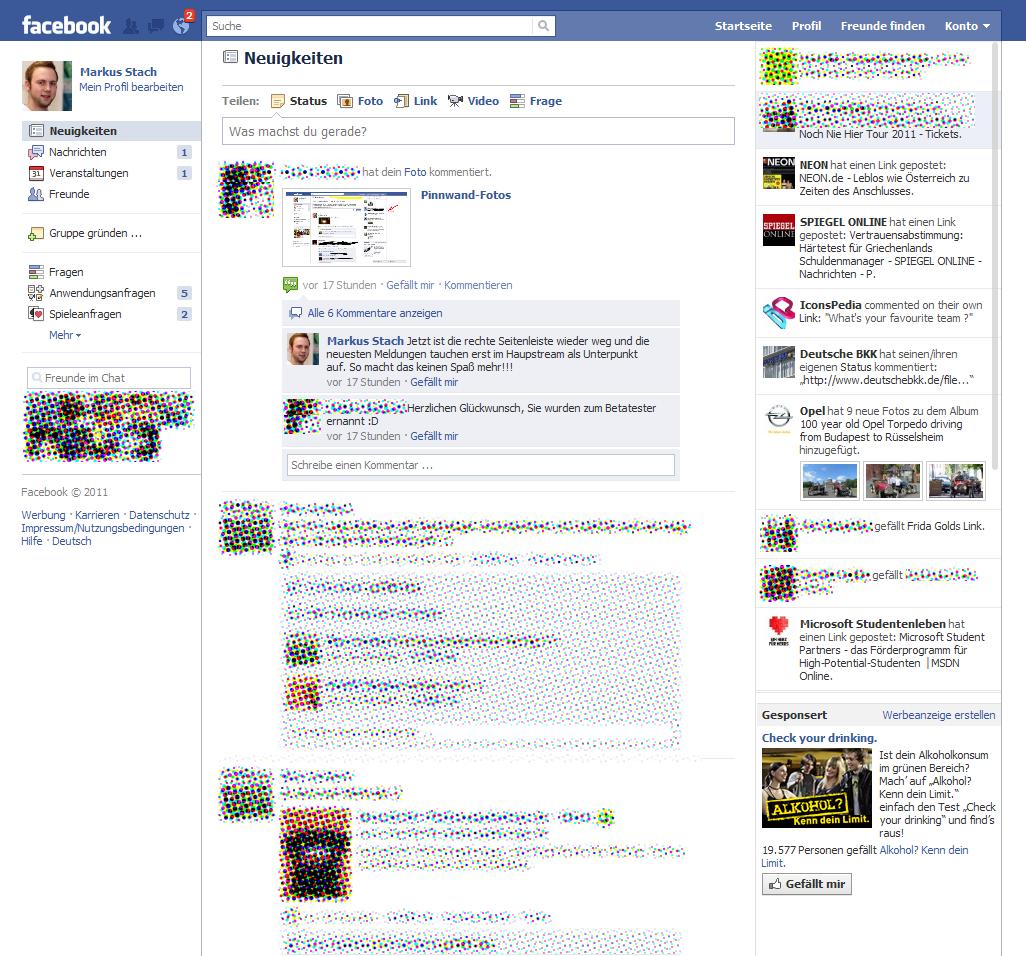 Erste Screenshots eines kommenden Facebook Redesigns?! (Update)