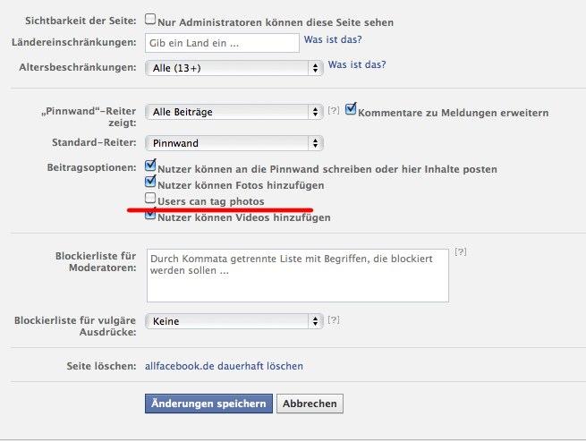 Facebook Pages – Kleine Verbesserung bei den Genehmigungen: Fans erlauben sich auf Fotos zu taggen