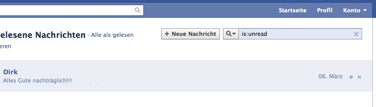 Facebook Nachrichten Shortcuts