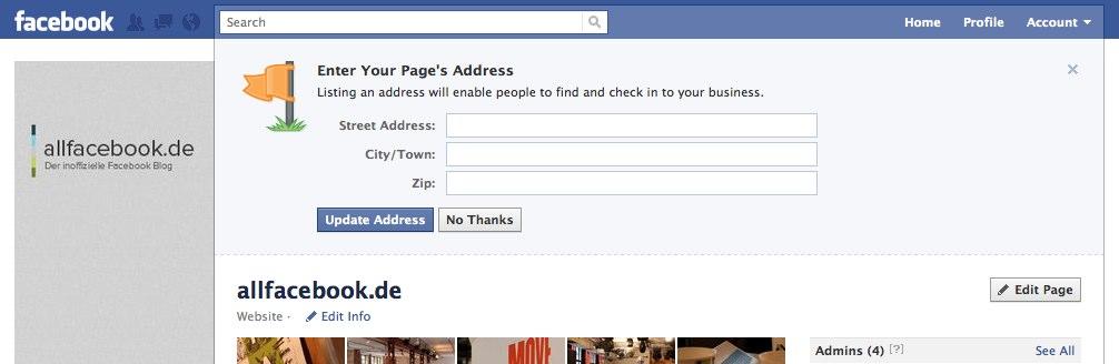 Facebook pusht die Bereinigung der Facebook Orte noch weiter voran…