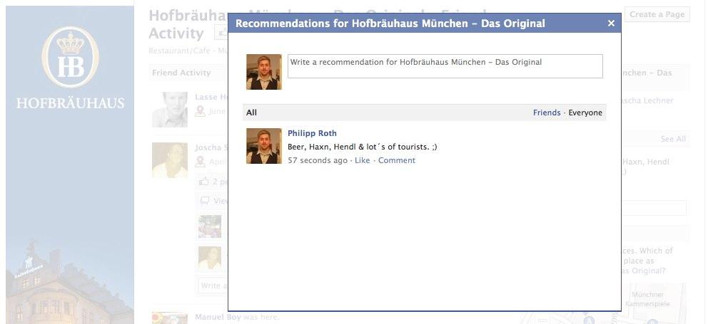 Places: Facebook führt Empfehlungen ein!