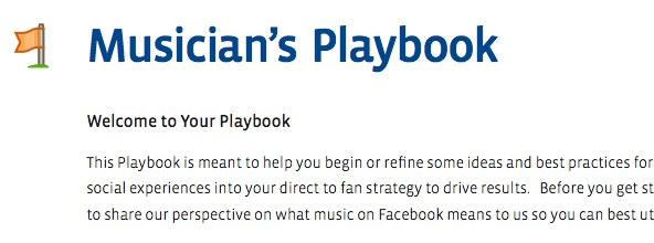 Offizielles Facebook Whitepaper für Bands & Künstler: Musician's Playbook