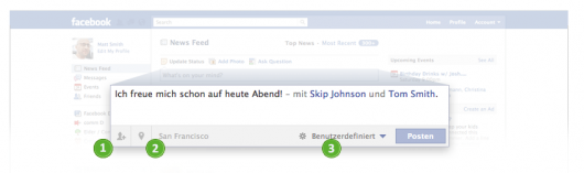 Der neue Publisher - Quelle: Facebook.com