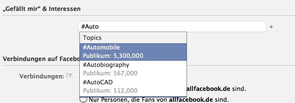 """""""Topic Targeting"""" – Facebook Ads jetzt auch mit Targeting nach verschiedenen Themengruppen"""