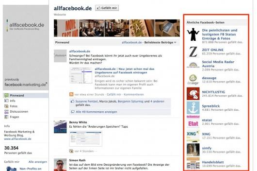 Facebook wirbt für Mitbewerber