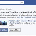 Die neue Timeline auf dem eigenen Profil einrichten. Wer Entwickler ist sieht diesen Dialog schon jetzt. Wenn ihr es als Entwickler noch nicht seht dann baut einen Dialog spätestens beim Test erscheint dieser Dialog. Alle normalen Nutzer müssen sich noch etwas gedulden!