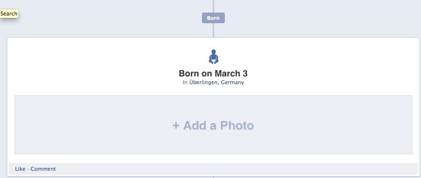Tour & Bildergalerie: Facebook Timeline / Zeittafel (das neue Facebook Profil)