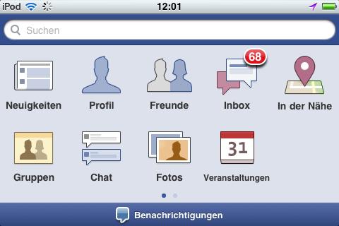 Facebook App für iPhone jetzt in Version 3.5