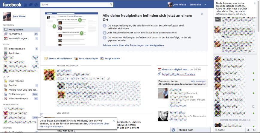 Jetzt online: Facebook Redesign