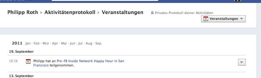 """Facebook Timeline – Das neue """"Aktivitäten Anzeigen"""" Feature im Detail"""