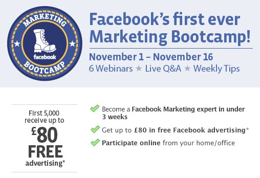 Facebook Marketing Bootcamp – Kostenloses Online Seminar von Facebook (English)