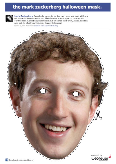 Die Mark Zuckerberg Halloween Maske: Resurrection