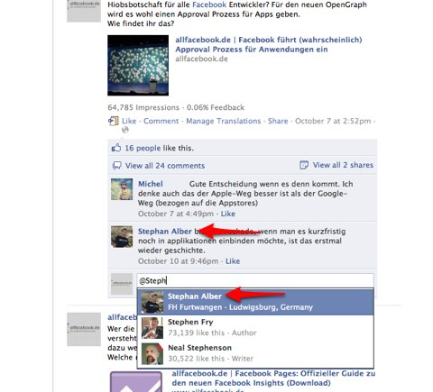 Facebook erleichtert Kommunikation mit Fans: Ab jetzt können Facebook Seiten ihre Nutzer markieren!