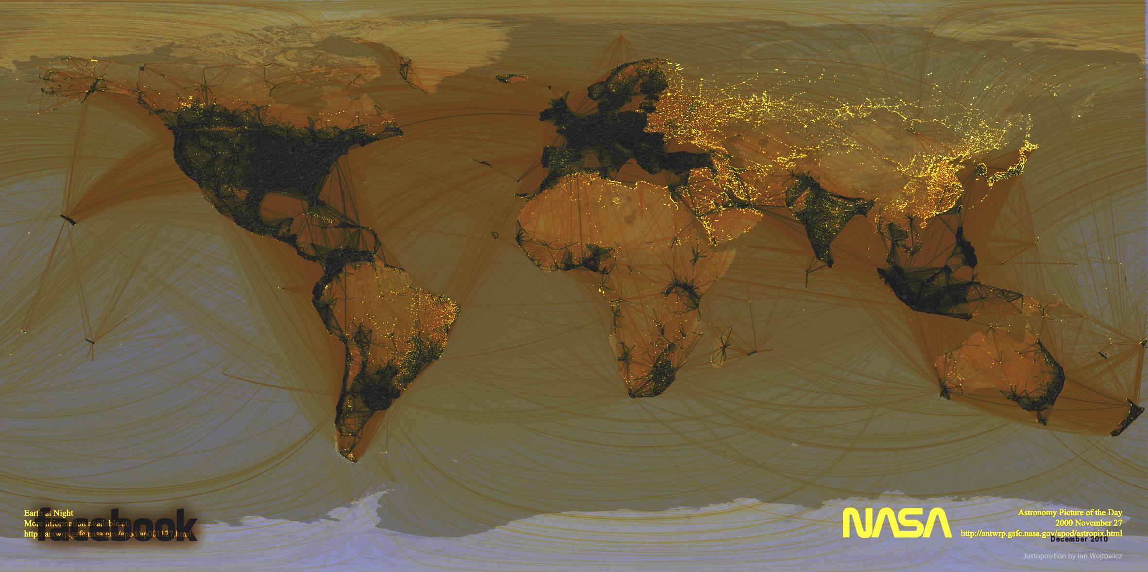 Weltkarte: Wo wird Facebook NICHT genutzt