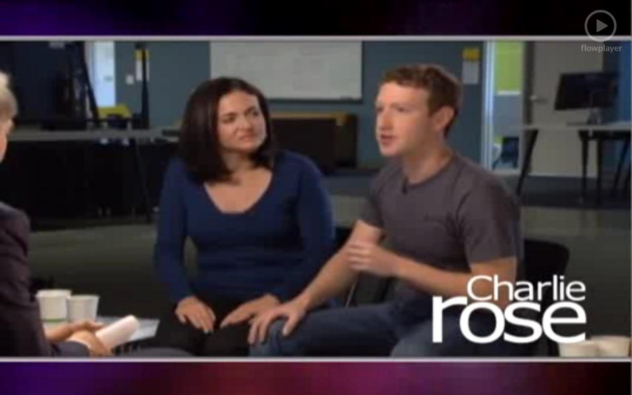 Charlie Rose im Interview mit M. Zuckerberg und S. Sandberg