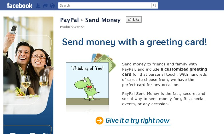 Geld an Facebook Freunde mit PayPal senden