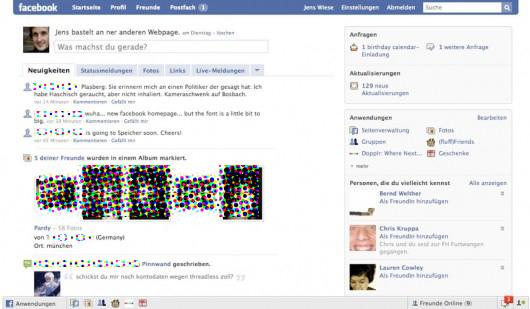 So würde es aussehen, ein altes Facebook