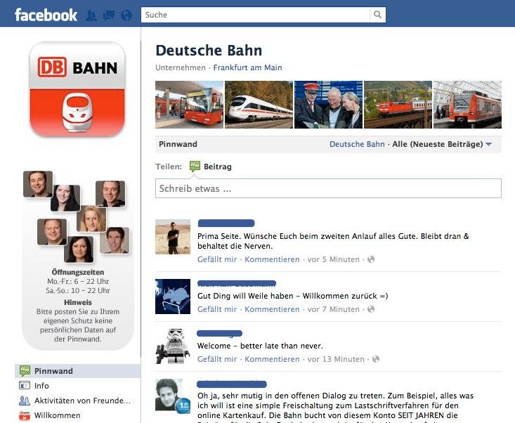Die Bahn auf Facebook – 2. Versuch