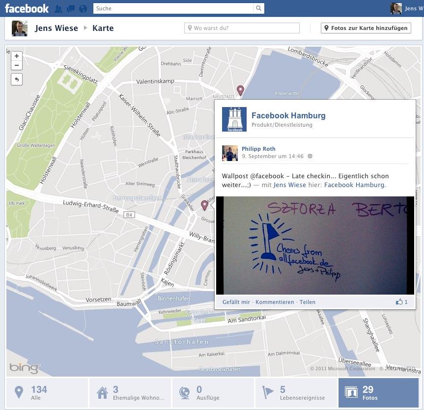 Timeline Map mit Fotos anreichern – Facebook pusht die Verortung von Inhalten weiter…