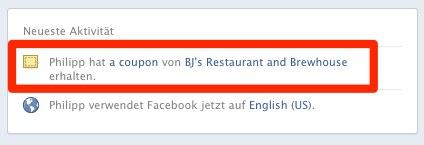 Facebook gibt das Deals Konzept nicht auf