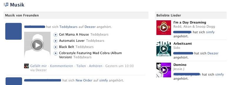 Facebook Music jetzt auch in Deutschland nutzen