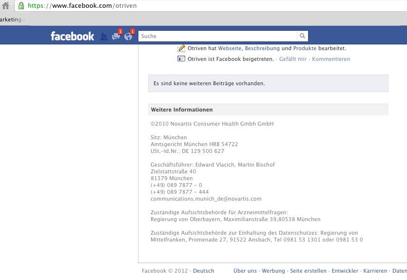 Facebook hat die Lösung für das Impressum Problem schon implementiert