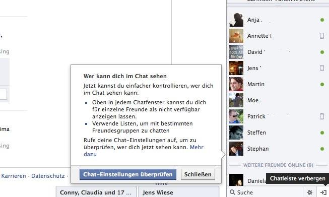 Facebook Chat: Neue und verbesserte Einstellungsmöglichkeiten