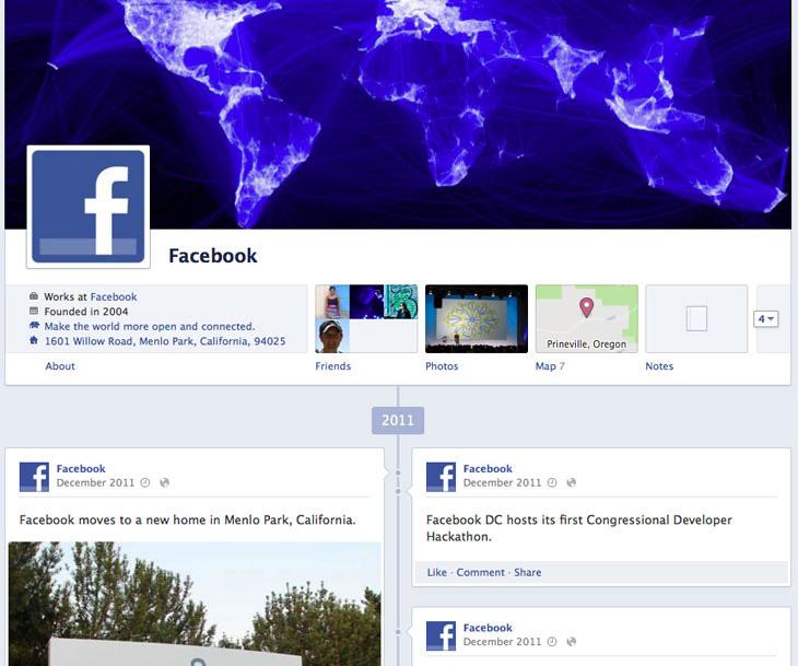 Infografik: Die Unternehmensgeschichte von Facebook als Timeline (Update)