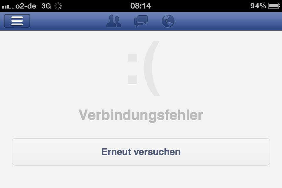 Breaking: Ja, Facebook ist down (Update 1 & 2 & 3)