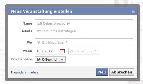 Facebook überarbeitet Event-Erstellung