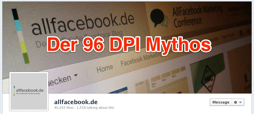 Der 96 dpi Mythos: Das perfekte Cover Photo
