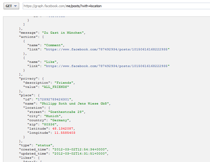 Abfrage von Location Tags nun per Graph API möglich