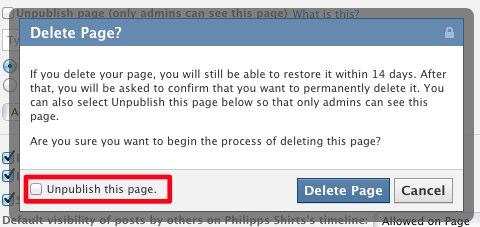 Schutz für Page Admins: Löschen von Pages nur noch mit 14 Tage Frist möglich