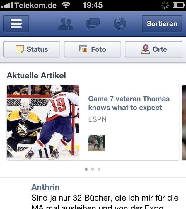 Facebook testet neues Feature: 'Trending Articles' / 'Aktuelle Artikel'