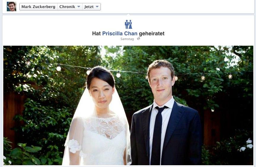 Ach wie süß: Mark Zuckerberg hat geheiratet!