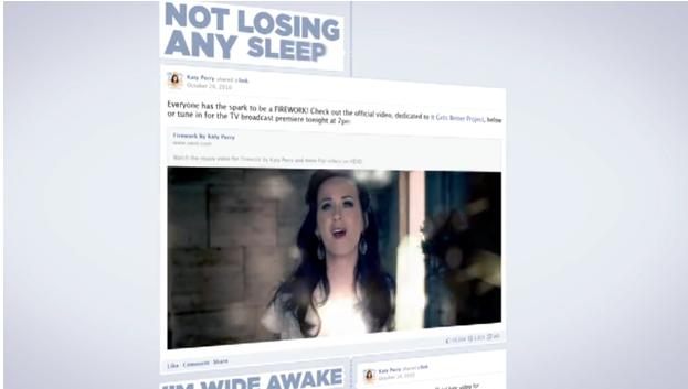 Facebook in der Popmusik: Das neue Katy Perry Timeline Musikvideo