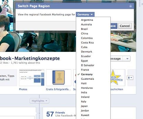 Breaking: Facebook vor dem Roll-Out von Countrypages für Unternehmen?!