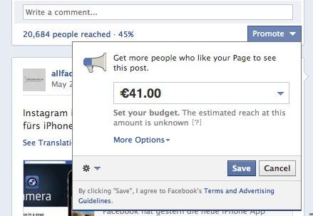 Promoted Posts: Neue Werbeform auf Facebook