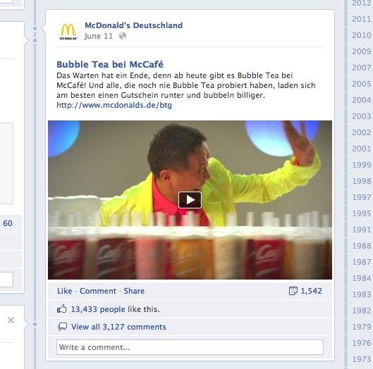 """Facebook Ads: Erste """"Log-out Experience"""" in Deutschland von McDonald´s"""