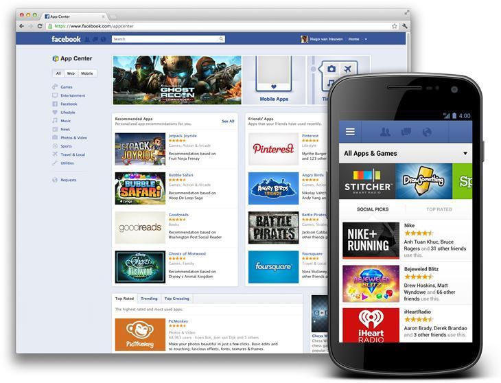 Neu: Facebook App Center jetzt online!