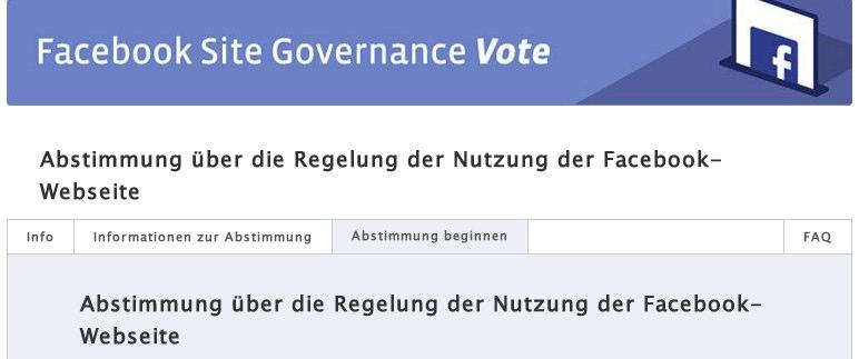 """Weitersagen: """"Abstimmung über die Regelungen der Facebook Nutzung"""" nur noch bis Freitag möglich!"""