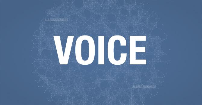 """Neues Feature für Administratoren: """"Voice"""" – Deine Stimme auf Facebook"""