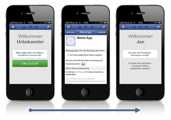 Login handy facebook über Help Center