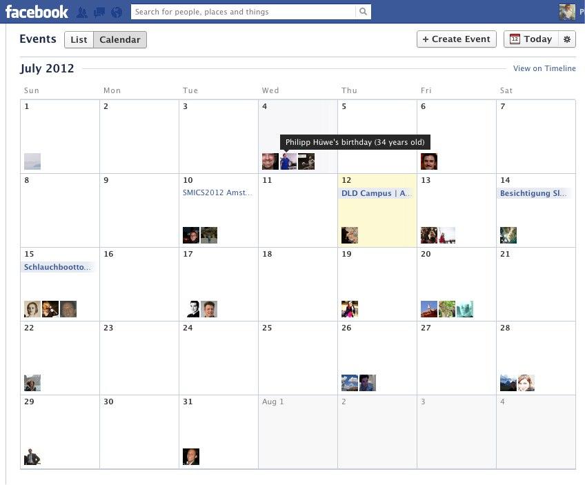 Facebook Events: Relaunch mit komplett neuer Kalender- und Listenansicht