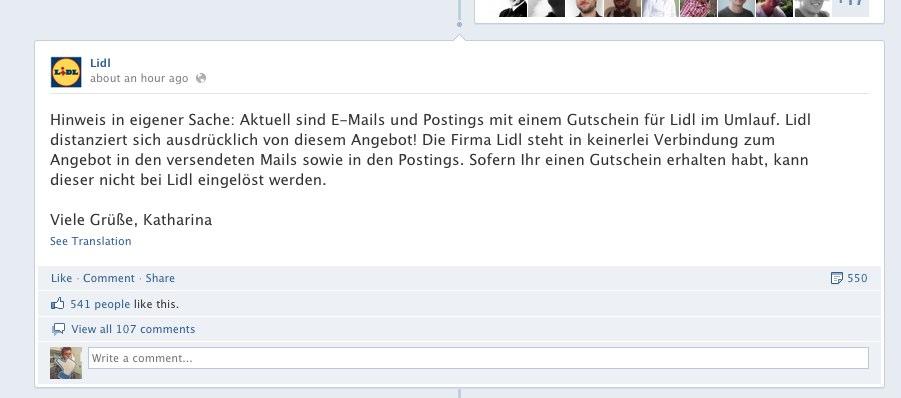 Dumm gelaufen: Sinnfreies Lidl Angebot verbreitet sich viral auf Facebook
