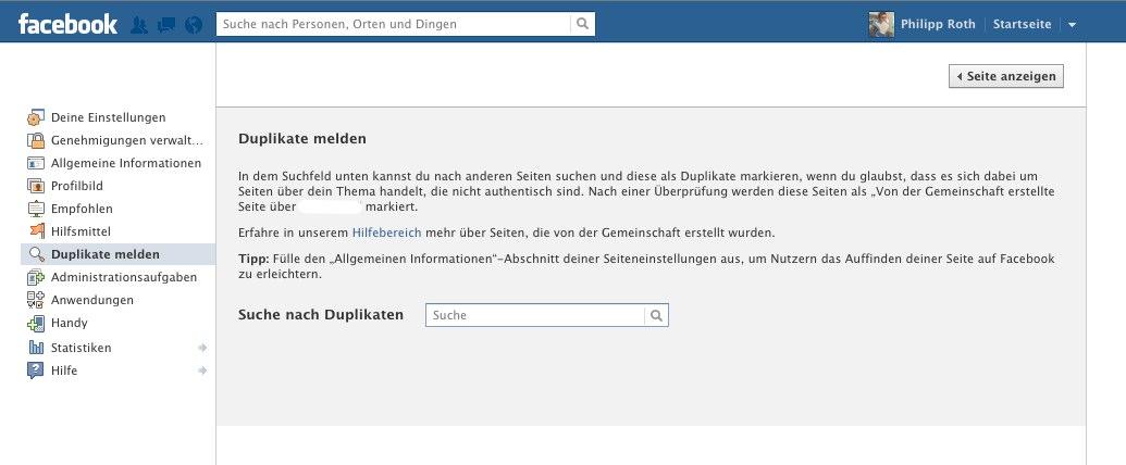 Neuer Anlauf von Facebook: Duplikate von Seiten & Orten mit neuer Funktion melden