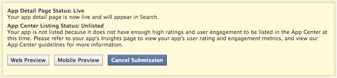 Wie kommt meine App ins Facebook App Center?