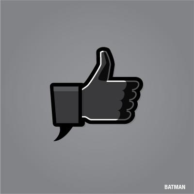 """""""Gefällt mir"""" Button von Batman"""